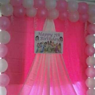 Mini Event Simple Backdrop & Decoration For Birthday Party
