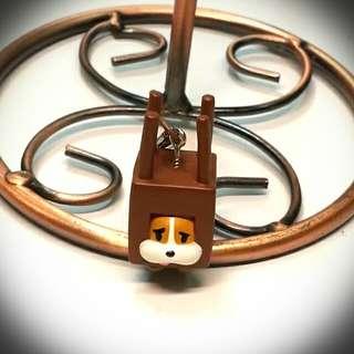 SANX 輪胎犬叮噹吊飾 日本絕版轉蛋 椅子狗