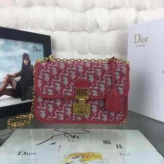 "Dior迪奧🔥原單品質 最新""Dioraddict"" Dior Oblique帆布翻蓋式手提包💥 24cm"