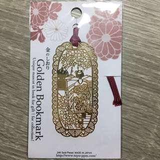 日本 舞妓金書籤 全新未拆封