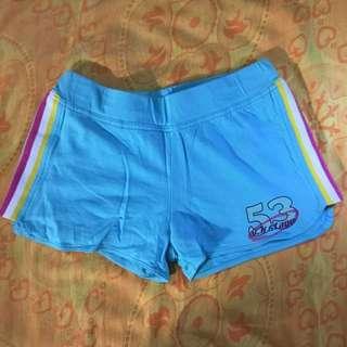 日本帶回二手淺藍綠色鬆緊帶運動短褲
