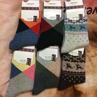 全新 兔羊毛保暖襪