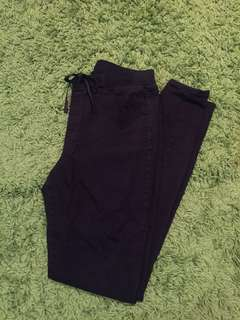 uniqlo black stretch skinny pants