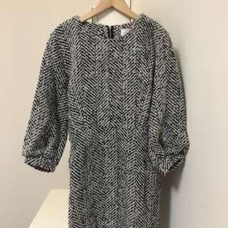 五分袖小洋裝