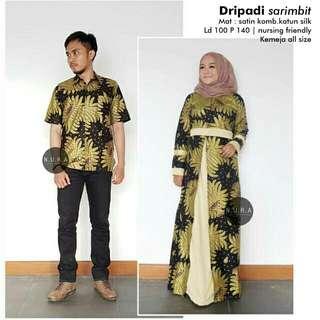 Batik Gamis Set couple