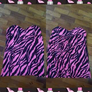 Animal Print Pink & Black Tube