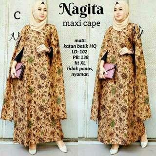 Long Jubah Batik Dress