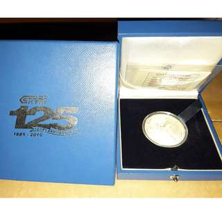 Malaysia KTM Silver Proof Coin Rare 2010
