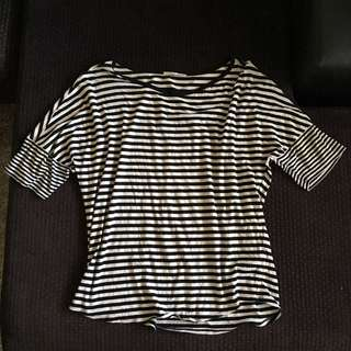 Final Sale! Uniqlo Oversized Striped Top