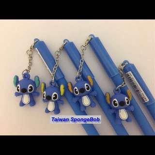 Lilo & Stitch 星際寶貝-史迪奇 矽膠玩偶吊飾 中性筆 簽字筆 卡通筆~有三種款式