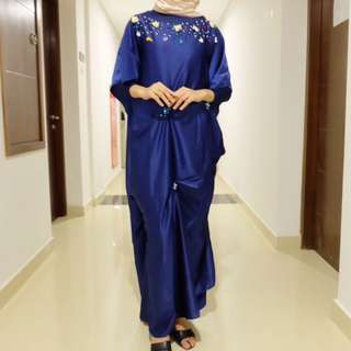 dress kaftan dongker