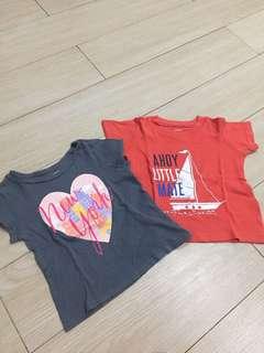 Kaos Anak CARTER & OLD NAVY (2 set)