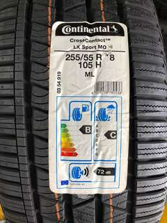 Brand New Continental Cross Contact LX MO 255/55R18