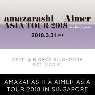 (Row A seat) Aimer x Amazarashi Asia Tour 2018: Singapore