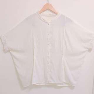 早春氣質緞面米白寬鬆襯衫#換季五折