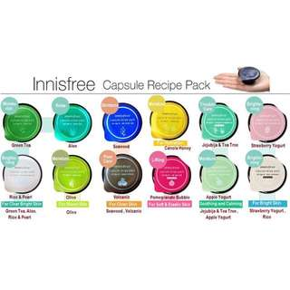 Innisfree Capsule Sleeping Pack Original Korea Bestseller masker tidur sleep cream gel wajah