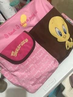 looney toons diaper bag