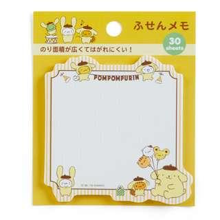 Sanrio 日本正版 Pompompurin 布甸狗 布丁狗 告示貼 報事貼