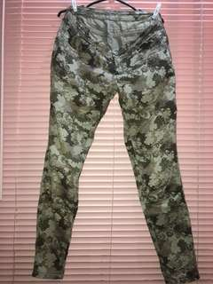 Camouflage Midwaist Pants