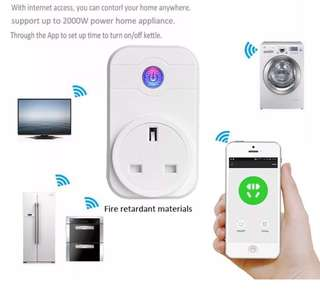 (Ready) Smart wifi plug - works with Alexa and Google Home (UK plug/ 2 pieces pack)