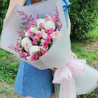 Flower Bouquet∕Hand Bouquet∕Birthday Bouquet∕Anniversary Bouquet∕Proposal Bouquet - 23349