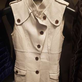 Danier white leather vest