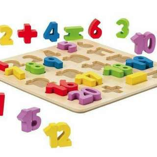 Large wooden number puzzle
