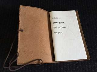 Pure Leather Refillable Notebook Journal Open Quote Hong Kong