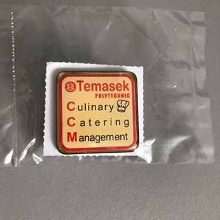 Free mailing! Temasek Poly Culinary Catering Management (CCM) Badge / Pin