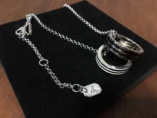 agnès b. couple ring duo charms necklace
