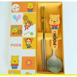 Winnie the Pooh Cutlery Set (WITH COSMETIC IMPERFECTIONS)