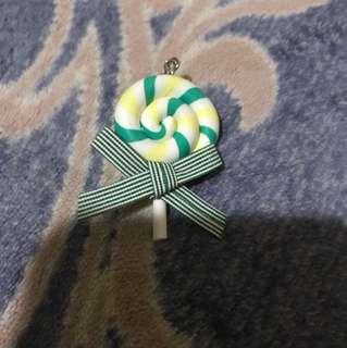 棒棒糖耳勾式耳環