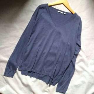 UNIQLO購入✨超親膚 ❗ 藍天針織毛衣☕顯白基本色#換季五折