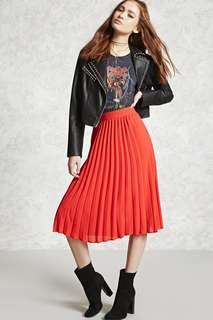 Forever 21 Accordion Pleated Skirt