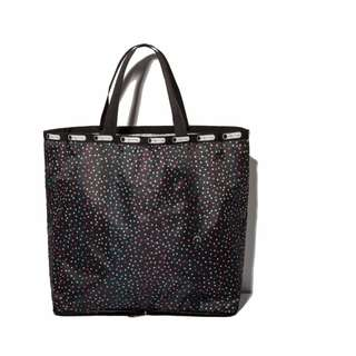 FUN 日雜~STAR DUST 星星圖案 可折疊 收納購物袋 環保袋 書袋