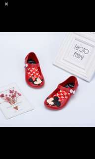 Instock mini mouse button type jelly shoe brand new pm me For size