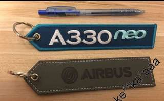 Airbus France 法國空中巴士 Airbus Remove Before Flight 灰色 或 A330 掛牌 匙扣