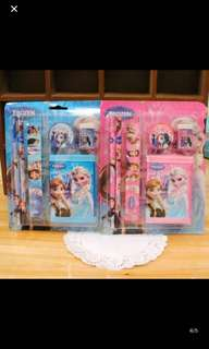 Instock Stationery set brand new clear Stock Sales !! Frozen/mc Queen