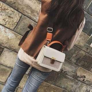 ✨日韓美著✨韓系單肩手提撞色包bag 三色預購中