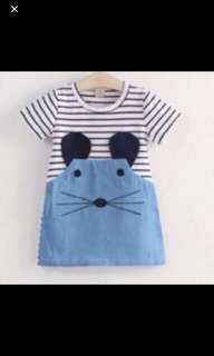 Clear Stock Sales!! Little mouse dress brand New Size Available For 2-5yrs