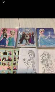 Mini Frozen Coloring And Stickers Book Brand New