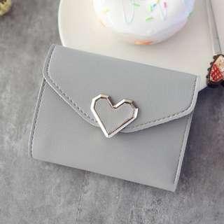 日系 可愛 愛心 短夾 零錢包