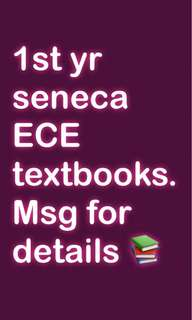 seneca ece textbooks