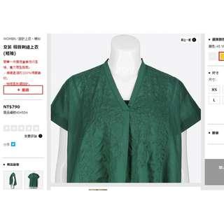 #徵物  #uniqlo #春裝上市 2018 刺繡 棉質 上衣 綠 白 黃 M號 S號