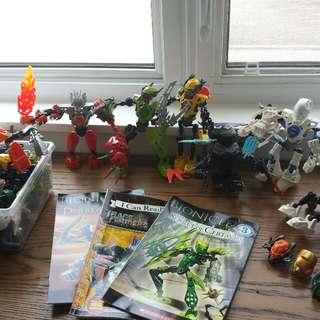 BIONICLES 7+ Figures & 3 Books
