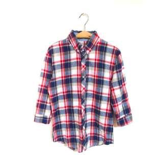 Kedi 小舖  LAKING  童裝 紅藍格子長袖襯衫