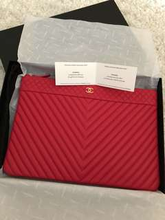 Chanel Pink Clutch Bag VIP Item