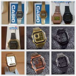 MK, Casio, Coach watches available.