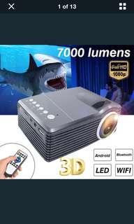 7000 Lumens Mini Projector