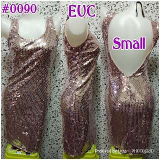 Pink Sequined Dress (low back)